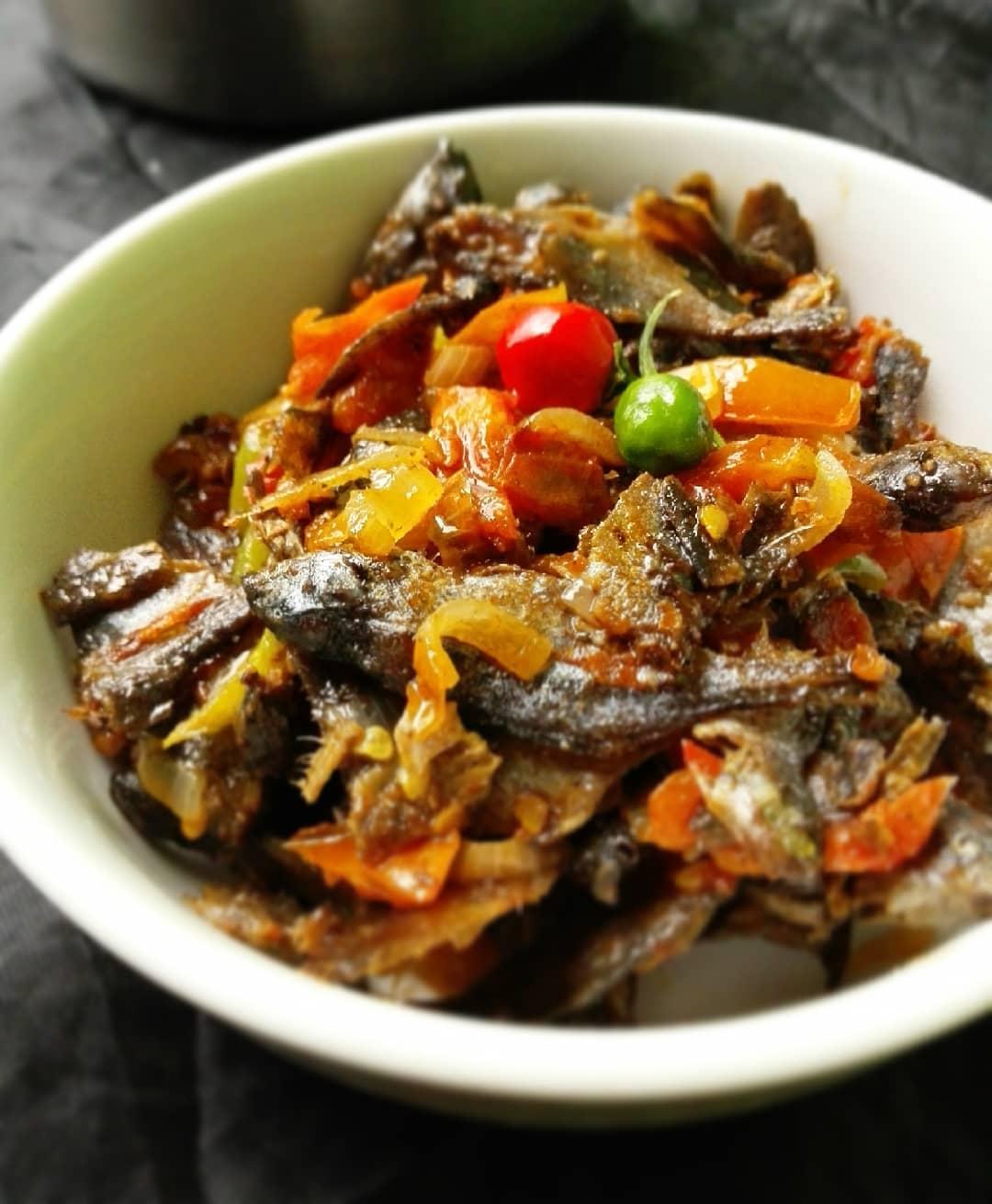 Dried Imintesa in Gravy-Zambian Food
