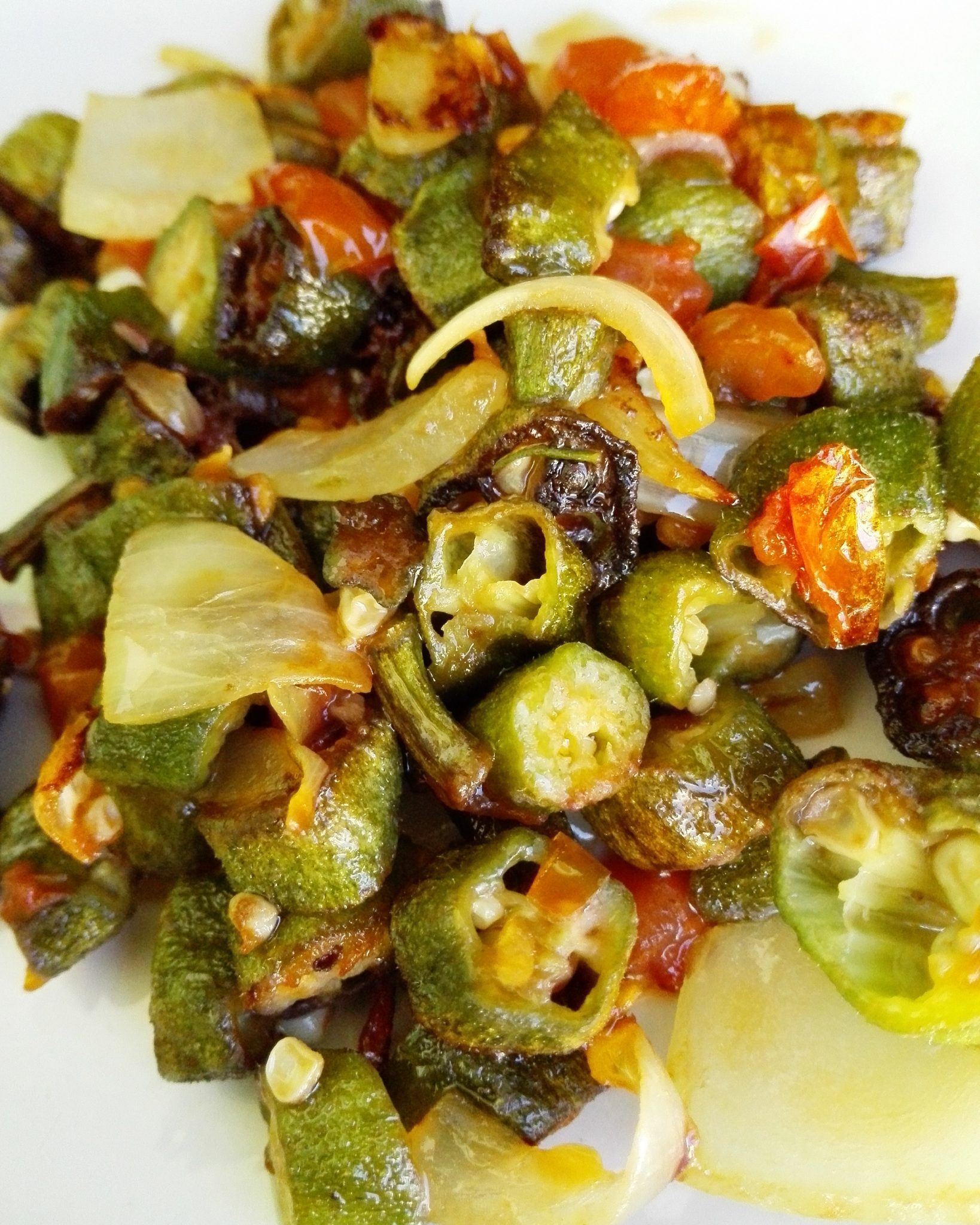 Okra Recipes Fried In An African Style Zambian Kitchen