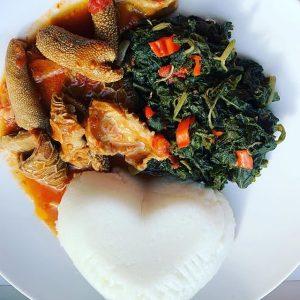 Nshima. Zambian Food